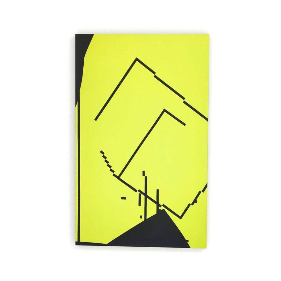 Konrad Peszko After Strike obraz nowoczesny żółty