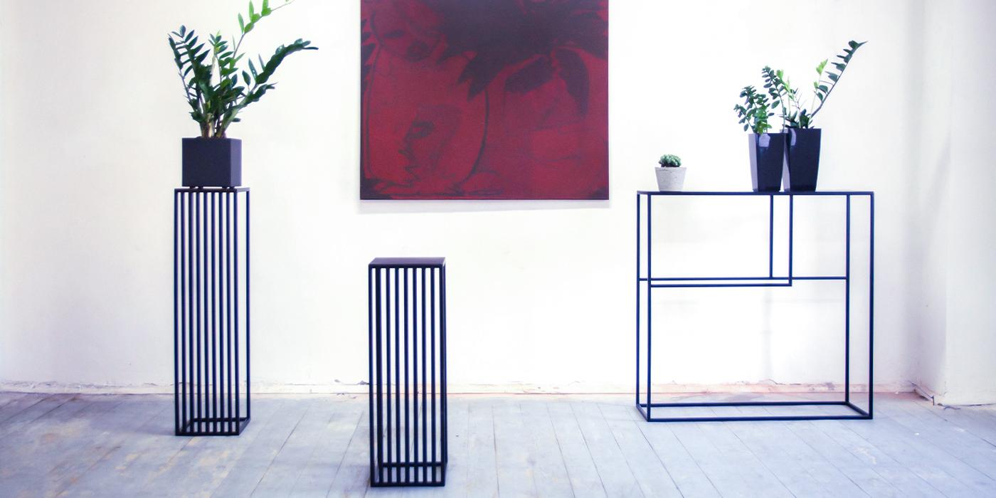 Kwietniki i konsola do salonu nowoczesne Kwiaty Paproci