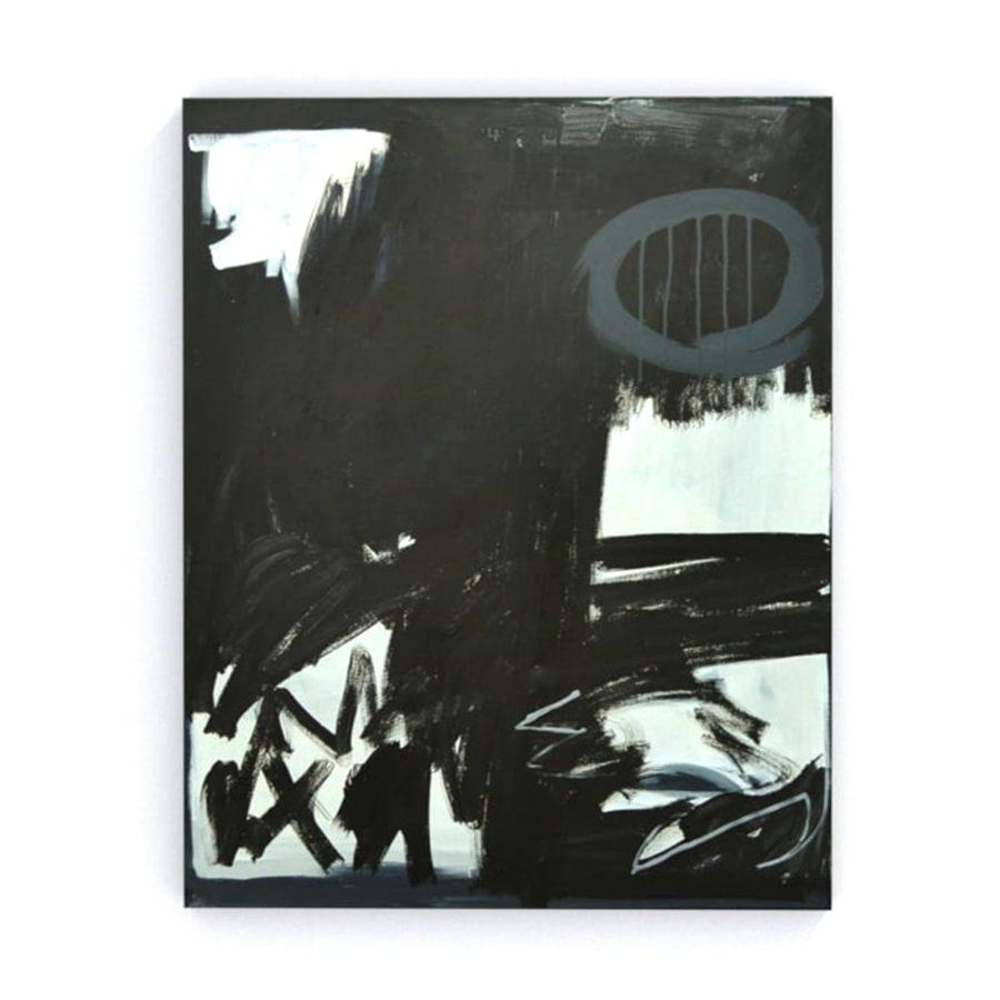 Czarny obraz do nowoczesnego wnętrza