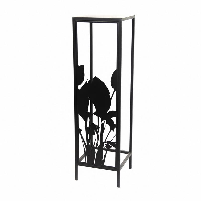 Kwietnik stojący do mieszkania metalowy Kwiaty Paproci