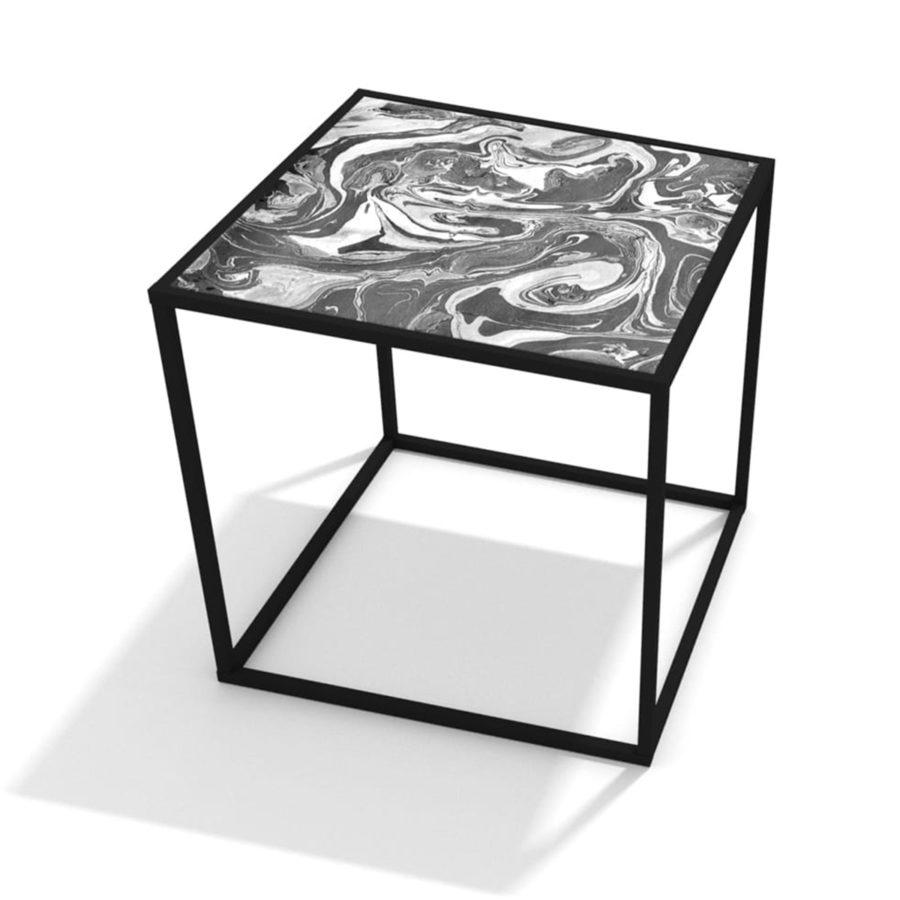 stolik z oryginalnym blatem, nadruk uv na blacie