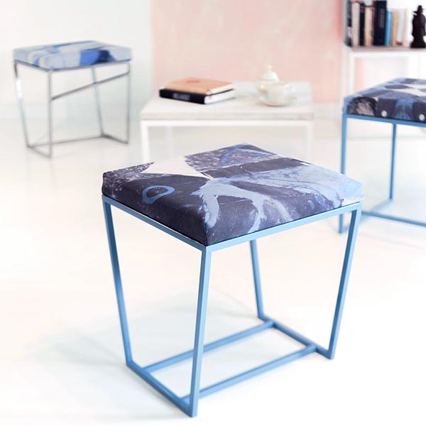 pufa blue print abstrakcyjny