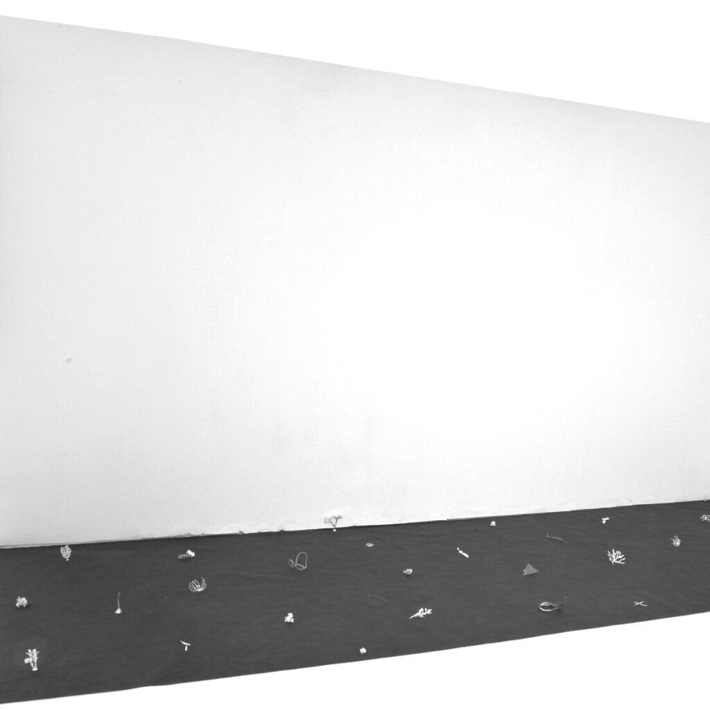 Kwiaty Paproci Falling Wall instalacja artystyczna