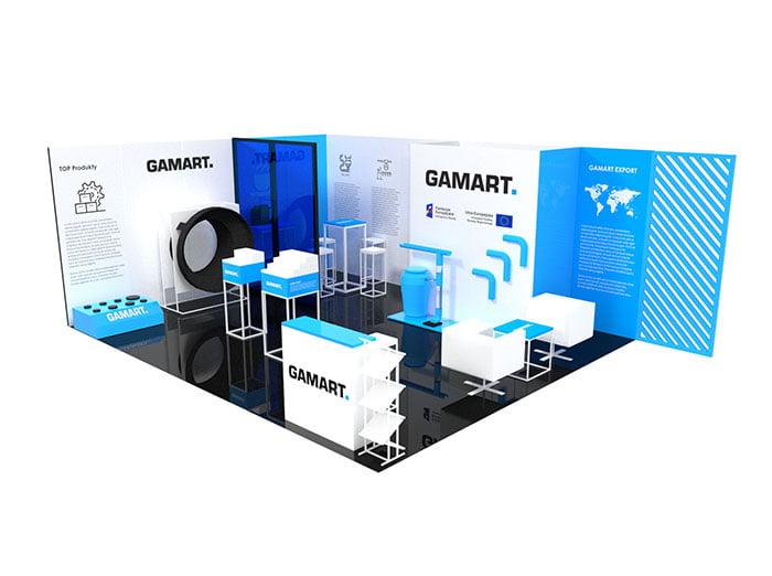 personalizowane ekspozytory produktów firmy Gamart